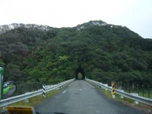 Tunnel à même la roche