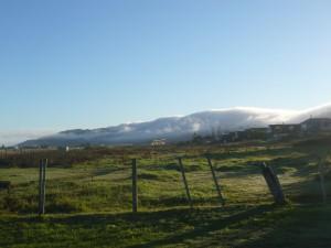 Nuages sur les hauteurs de Greymouth