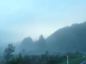 Brouillard en arrivant au col