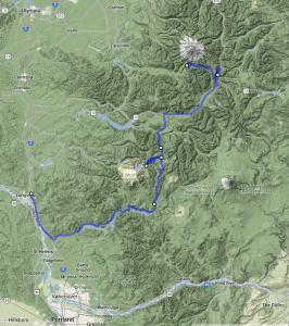 Mt St Helens to Mt Rainier