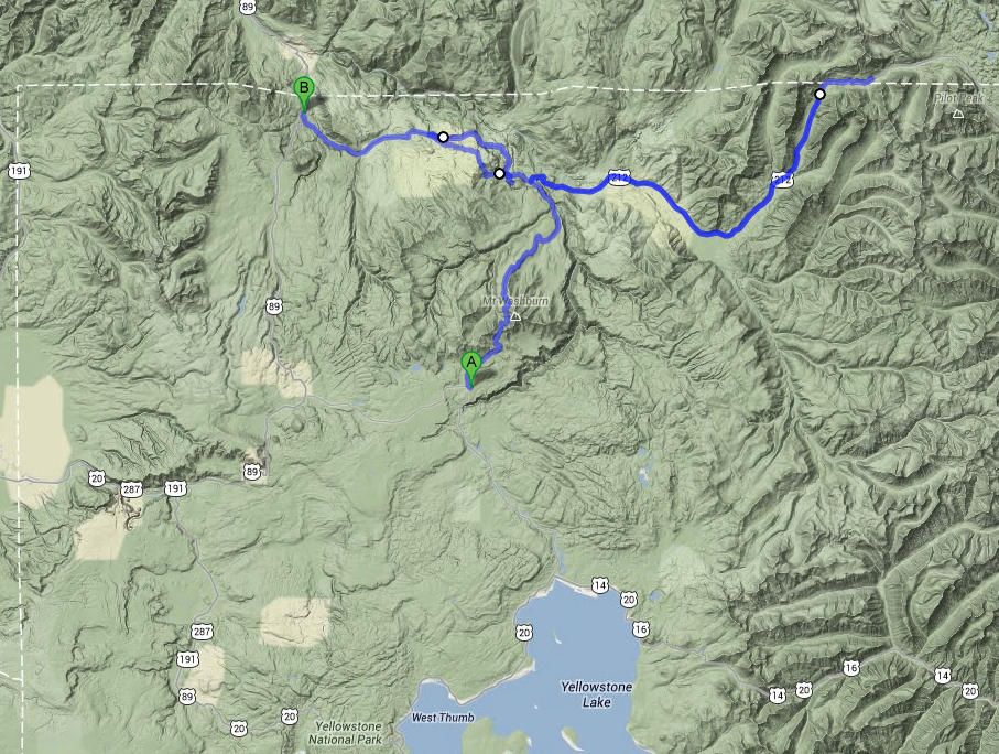 From Canyon to Mammoth thru Lamar Valley