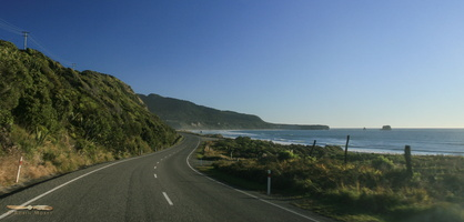 Seaside road on the West Coast