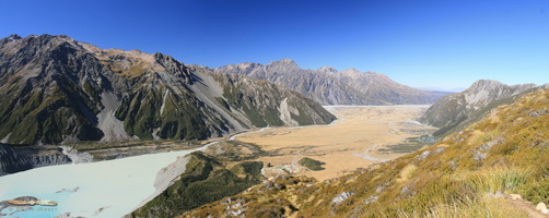 Mueller Lake & Mt Cook National Park - Panorama : click to zoom !