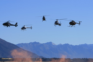 Helicopters display