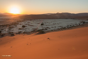 Sunrise over Sossuvlei