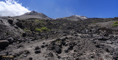 Up to the lava dome