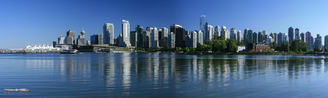 Downtown Vancouver skyline - Click to zoom !