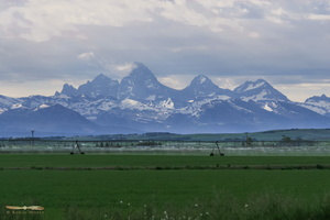 Teton range from Idaho