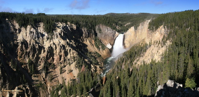 Lower Falls & Yellowstone Canyon - Click to zoom !
