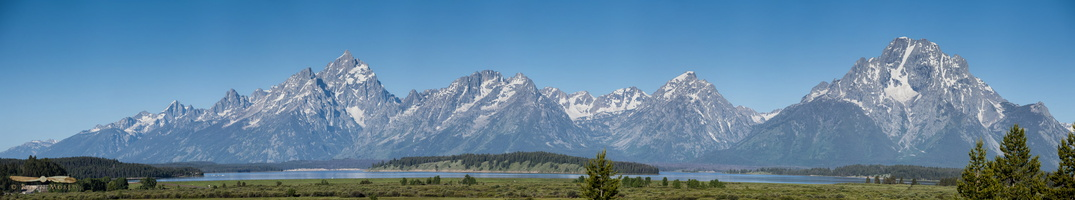 Teton range from Willow Flats Overlook