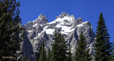 Mt Owen (right), 3940m & Grand Teton (left) 4197m