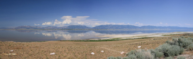 Farmington Bay,  Antelope Island - Click to zoom !
