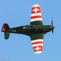 Morane 406 in swiss colors