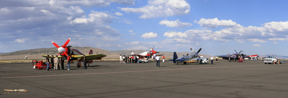 Flight line prior to the Gold Race