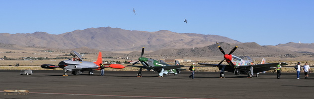 Flight line during Sport race