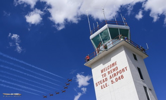 Snowbirds over Stead Airport