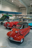 Messerschmitt car in front of a Polikarpov Po-2