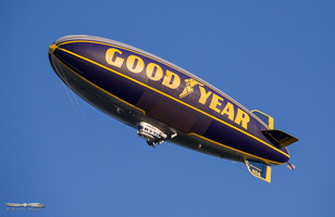 Goodyear's blimp flying after the daily show