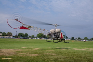 Ride the Bell 47G-2 to discover AirVenture from above