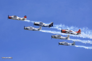 T-28 Formation overflight
