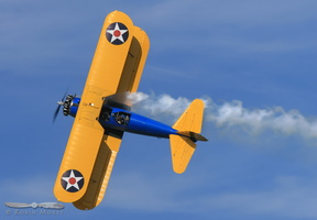 John Mohr's incredile display with his stock Stearman