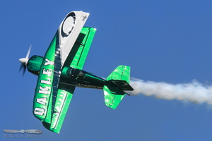 Jason Newberg aerbotics in a Pitts S-2S