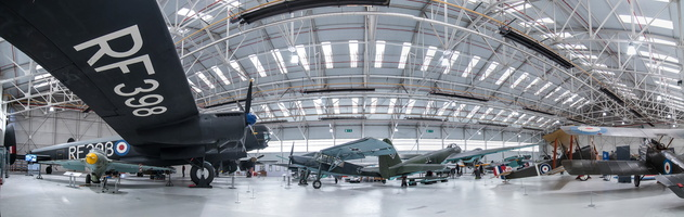 War in the Air hangar