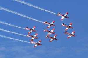 Combined Patrouille Suisse & PC-7 Team display