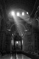 Crepuscular rays in St. Peter's Basilica