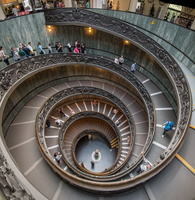 Dual helix Bramante's stairs