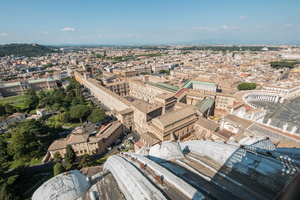 Vatican museums from St Peter Basilica dome
