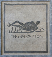 Skeleton Mosaic from via Appia sepulcre