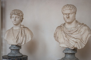 Busts of Caligula, young & adult