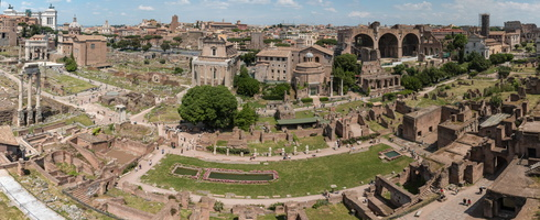 Roman forum seen from Farnese gardens