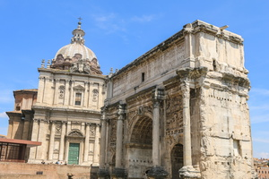 Arch of Septimus Severus in front of Santa Luca e Martina