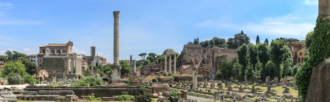 Roman forum seen from temple of Saturn