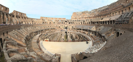 Panorama of the interior of the Colosseum