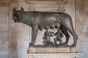 Capitoline She-Wolf with Romulus and Remus (5th BC)