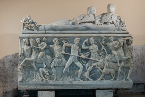 Sarcophagus with a scene of the Calydonian Hunt (3rd AD)