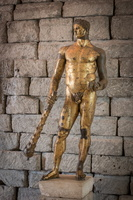 Gilded bronze statue of Hercules (4th BC)