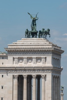 Winged quadriga of the Unity on top of Altare della Patria
