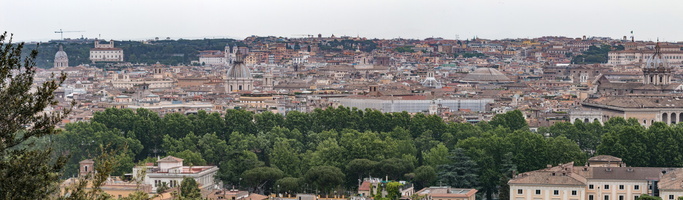 Navona, Pantheon & Barberini from Janiculum