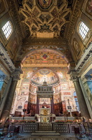 High altar and apse of Santa Maria in Trastevere
