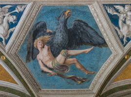 Aquarius depicted by Ganymede abducted by Jupiter as an eagle