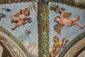 Angels having stolen Mercury and Bacchus' attributes