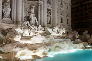 Trevi fountain (Salvi / Pannini, 18th AD)