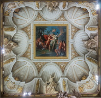 Ceiling of the Apollo and Daphne room. Painting by Angeletti (18th AD)