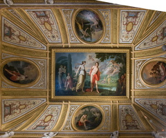 Ceiling of the Hermaphrodite room - Cupid hits muse Salmacis as she meets Hermaphrodite (Bonvicini, 18th AD)