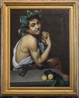 Self portrait as Bacchus (Caravaggio, 17th AD)