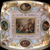 Ceiling of the Psyche Room - Cupid and Psyche, intervention of Jupiter (Novelli, 18th AD)